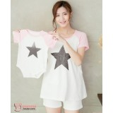 Nursing Set - Star Pink (plus baby romper)
