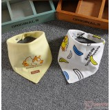 Baby Bib - 2pcs set - Duck Banana