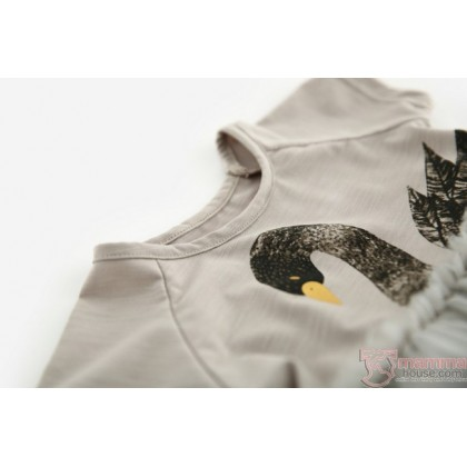 Baby Clothes - Dress Swan Grey
