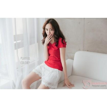 Maternity Shorts - Lace Lace White