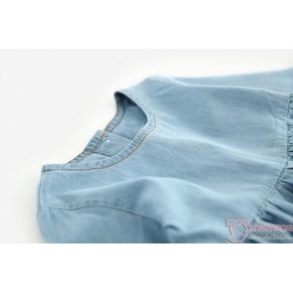 Baby Clothes - Dress Denim Wolf