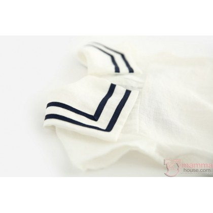 Baby Clothes - Romper Navy White
