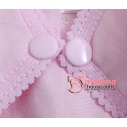 Nursing Bra - Button Pure Pink (32,70 to 42,95)