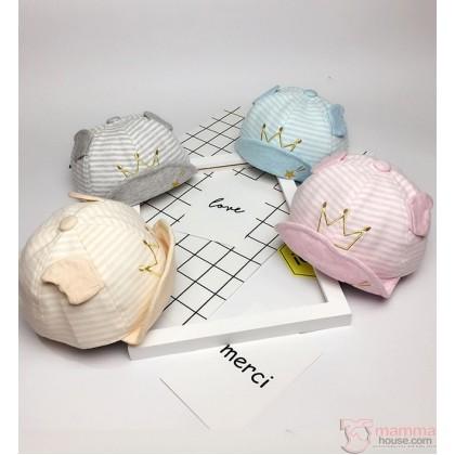 Baby Cap - Cotton Crown (4 colors/pc)