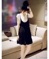 Maternity Dress - 2pcs White Black