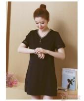 Maternity Dress - V Dress Black