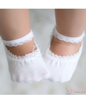 Baby Socks - Korean Lace Boat White