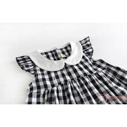 Baby Clothes - Dress Grid Black