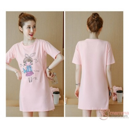 Nursing Tops - Cotton Girl Pink