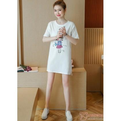Nursing Tops - Cotton Girl White