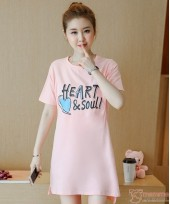 Nursing Tops - Cotton Heart Pink