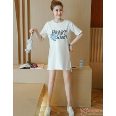 Nursing Tops - Cotton Heart White