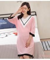 Mamma Pajamas - V Green Pink