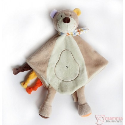 Baby Comforter - Bear, Monkey or Donkey (2 colors)