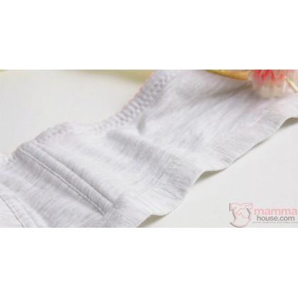 X Nursing Bra - Button Padded Stripe Pink