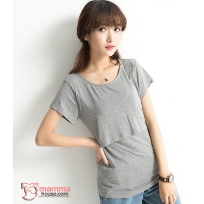Nursing Tops - Cotton Grey