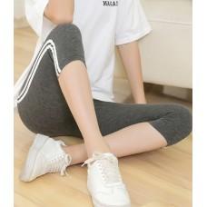 Maternity Legging - Side 2 Line Dark Grey