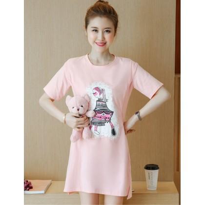Nursing Tops - Cotton Lady Pink
