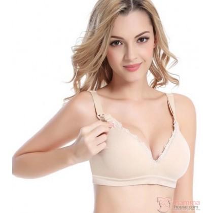 Nursing Bra - Seamless Lace Light Skin