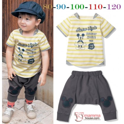 Baby Clothes - 2pcs Stripe Mickey