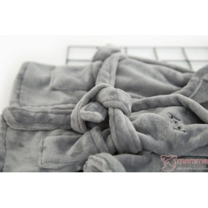 Baby Bathrobe - Ins Velvet Cute (Grey or White)