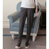 Maternity Pants - Long Working Knitted Lantern Grey