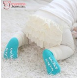 Baby Hose - Korean Hips Flora (2pcs Set) White