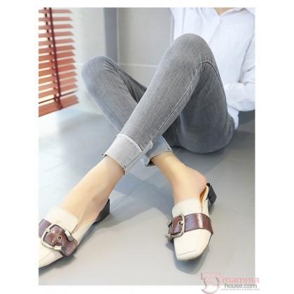 Maternity Jeans - Slim 9 Grey FOLD