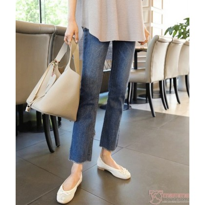 Maternity Jeans - Straight Slim Blue