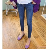 Maternity Jeans - V Cut Slim Blue
