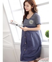 Nursing Dress - Badge Stripe Dress
