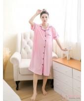 Mamma Pajamas - Collar Pink Dress
