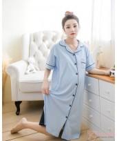 Mamma Pajamas - Collar Blue Dress