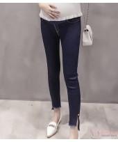 Maternity Jeans - Button Dark Blue