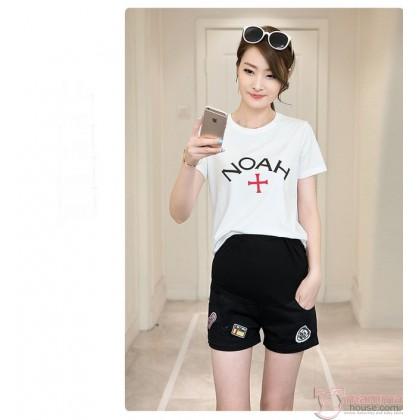 Maternity Shorts - Cool Black Badge