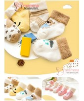 Baby Socks - 5 pair Set (pink or khaki)