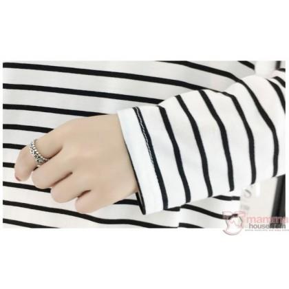 Nursing Tops - Chief Long Stripe Black