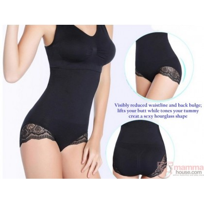 Slimming - Panties High Waist Lace Black
