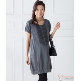 Nursing Dress - JP Flora Grey