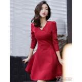 Nursing Dress - Charm Red