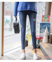 Maternity Jeans - Skinny Destruct Blue
