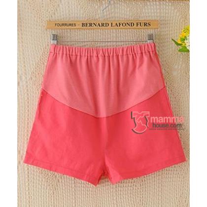 Maternity Shorts - Mini Mini Red