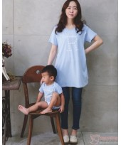 Nursing Set - Star R Blue (plus baby romper) Tops