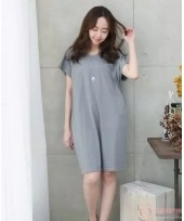 Nursing Dress - Simple Grey Dress