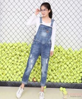 Maternity Strap Jeans - Long Simple Strap