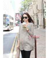 Maternity Tops - Grey Lace Tops