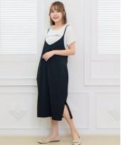 Nursing Dress - 2pcs Bell Dress Black
