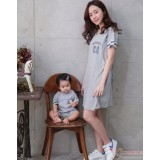 Nursing Set - 01 Dress Grey (plus baby romper)
