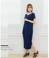 Nursing Dress - Simple Dress Dark Blue
