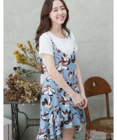 Nursing Dress - 2pcs Ive Flora Light Blue